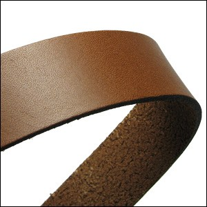 20mm flat leather TOBACCO - approx. 3 feet