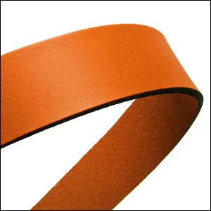 20mm flat leather RUST - approx. 3 feet