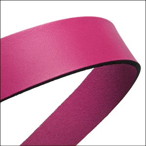 30mm STRIP flat leather FUCHSIA - approx. 3 feet