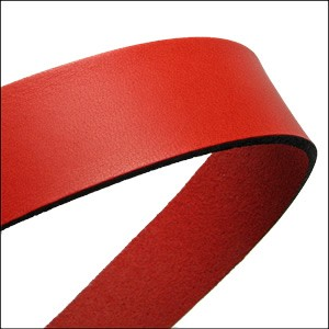 30mm STRIP flat leather RED - approx. 3 feet