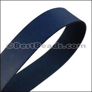 20mm STRIP flat leather ELECTRIC BLUE - approx. 3 feet