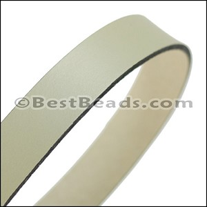 30mm STRIP flat leather CEMENT - approx. 3 feet