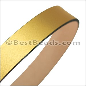 20mm STRIP flat leather GOLD - approx. 3 feet