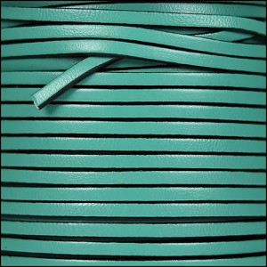 3mm flat leather PASTEL EMERALD GREEN - per 5 meters