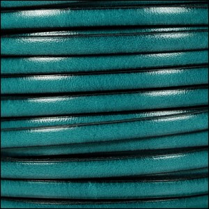 5mm flat leather TEAL - per 20m SPOOL