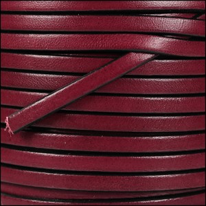 5mm flat leather PLUM - per 5 meters