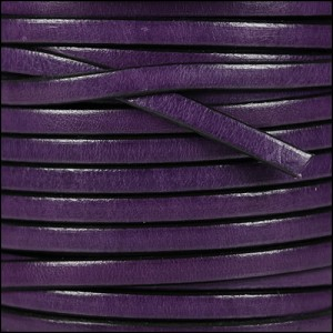 5mm flat leather DEEP PURPLE - per 5 meters