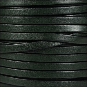 5mm flat leather ARMY GREEN - per 5 meters