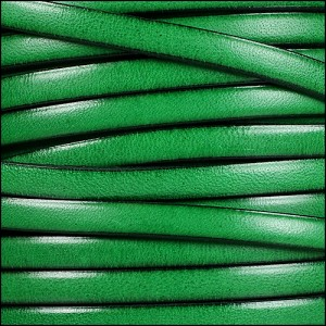 5mm flat leather BRIGHT GREEN - per 5 meters