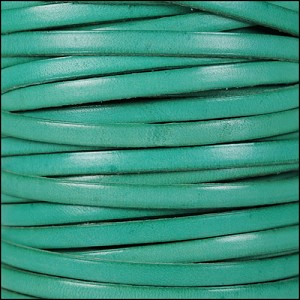 5mm flat leather DISTRESSED PASTEL TURQUOISE - per 20m SPOOL