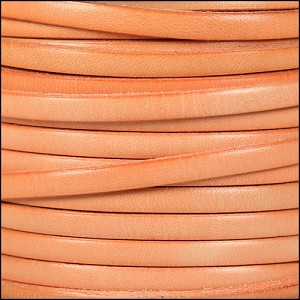 5mm flat leather DISTRESSED PASTEL ORANGE - per 5 meters