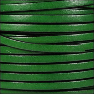 5mm flat leather BOTTLE GREEN - per 5 meters