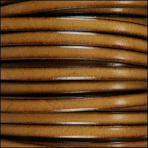 5mm flat leather CEDAR - per 5 meters