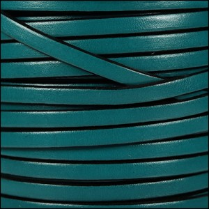 5mm flat leather TURQUOISE - per 20m SPOOL