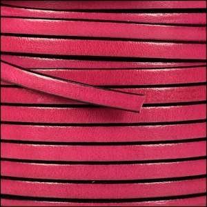 5mm flat leather FUCHSIA - per 20m SPOOL