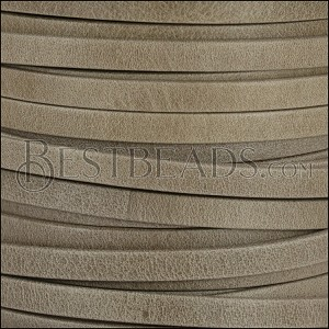 5mm flat ARIZONA leather TAUPE - per 20m SPOOL