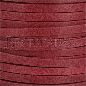 5mm flat ARIZONA leather RED - per 5 meters