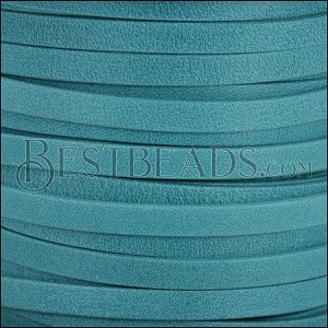5mm flat ARIZONA leather TURQUOISE - meter