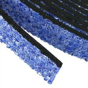 10mm flat GLITTER leather COBALT BLUE - per 5 meters