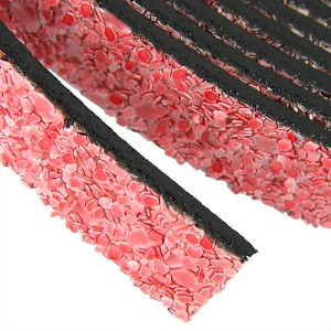 5mm flat GLITTER leather PINK - per 20m SPOOL