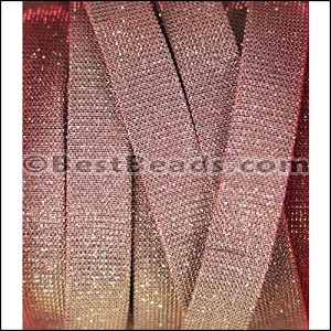 14mm flat IRIDESCENT FABRIC cord CHERRY BLOSSOM - per 10m SPOOL