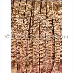 5mm flat IRIDESCENT FABRIC cord SUNSET - per 20m SPOOL