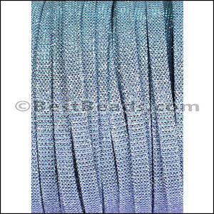 5mm flat IRIDESCENT FABRIC cord PERIWINKLE - per 5 meters