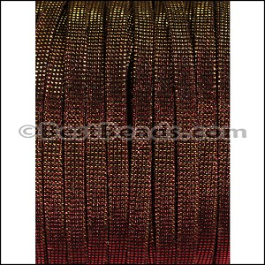 5mm flat IRIDESCENT FABRIC cord FIREBALL - per 20m SPOOL