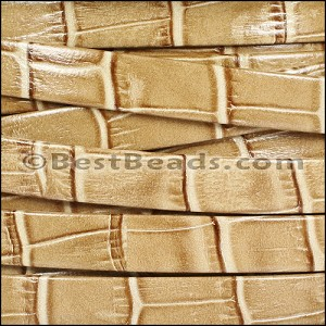 10mm flat NILE leather TAUPE - per 2 meters