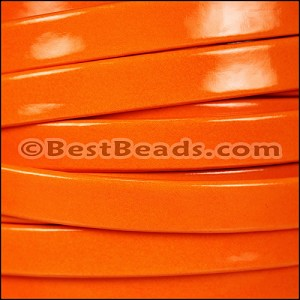 10mm Flat PATENT leather ORANGE - per 20m SPOOL
