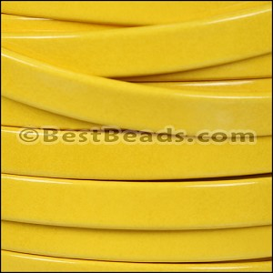 10mm Flat PATENT leather YELLOW - per 2 meters