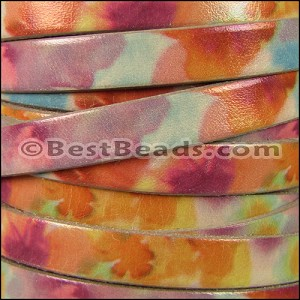 10mm flat WATERCOLOR leather BRUSHED - per 2 meters