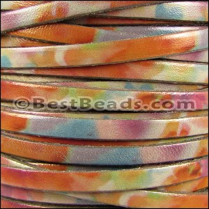 5mm flat WATERCOLOR leather BRUSHED - per 20m SPOOL