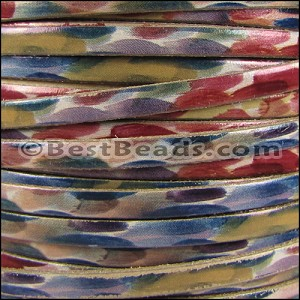 5mm flat WATERCOLOR leather DOTS - per 20m SPOOL