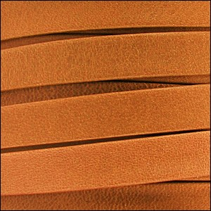 10mm flat ARIZONA leather BURNT ORANGE - per 2 meters
