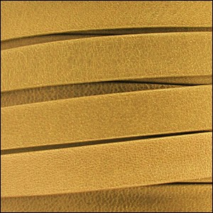 5mm flat ARIZONA leather OLD GOLD - per 5 meters