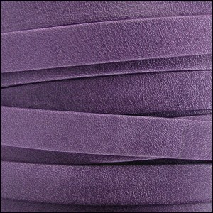 5mm flat ARIZONA leather VIOLET - per 20m SPOOL