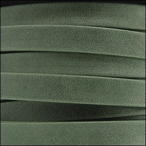 10mm flat ARIZONA leather FOREST GREEN - per 2 meters