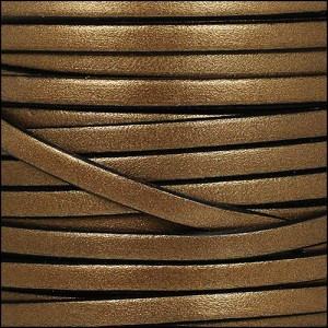 5mm flat leather METALLIC BROWN - per 20m SPOOL