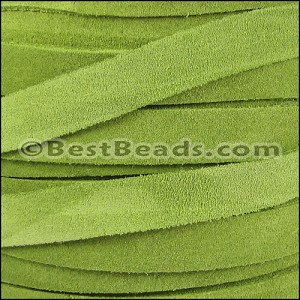 10mm flat SUEDE leather GREEN - per 25m SPOOL