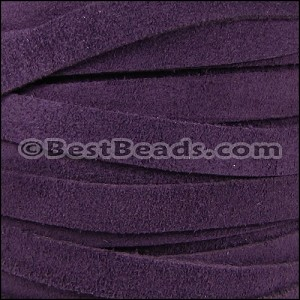 10mm flat SUEDE leather PURPLE - per 25m SPOOL
