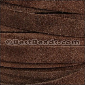 10mm flat SUEDE leather BROWN - per 25m SPOOL