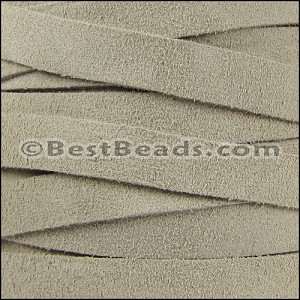 10mm flat SUEDE leather SAND - per 25m SPOOL