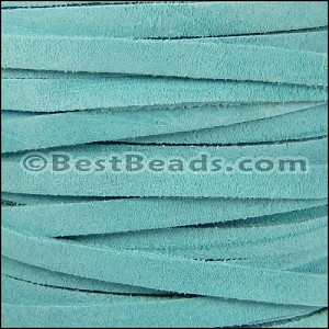 5mm flat SUEDE leather SKY BLUE - per 5 meters