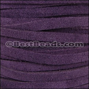 5mm flat SUEDE leather PURPLE - per 5 meters