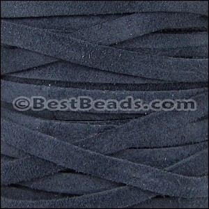 5mm flat SUEDE leather NAVY - per 5 meters