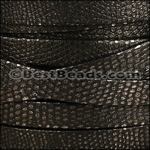 10mm flat LUXOR leather BLACK - per 20m SPOOL