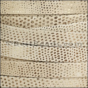 10mm flat LUXOR leather BEIGE - per 20m SPOOL