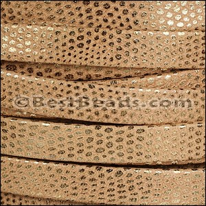 10mm flat LUXOR leather CAMEL - per 2 meters