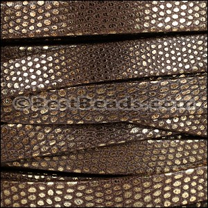 10mm flat LUXOR leather BROWN - per 20m SPOOL